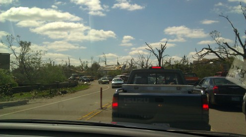 traffic at Hackberry and Hargrove (photo by Tanya Mikulas)