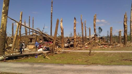 The damage was incredible. (photo by Tanya Mikulas)