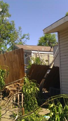 Their fence got trashed. (photo by Tanya Mikulas)