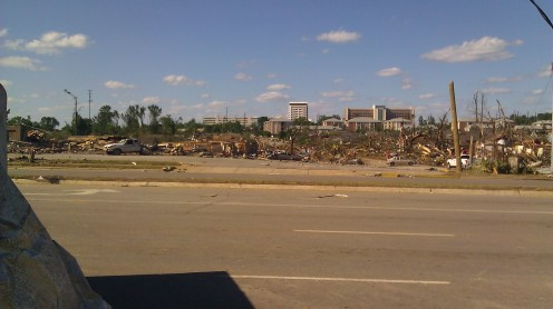 There used to be a restaurant here. Completely gone. And, cedar crest neighbohood, also completely gone. (photo by Tanya Mikulas)