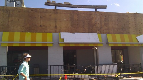 What's left of the McDonalds at 15th and Hilliard. (photo by Tanya Mikulas)